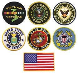 Coast Guard Air Force Marines Vietnam Veteran military Patch Army Navy