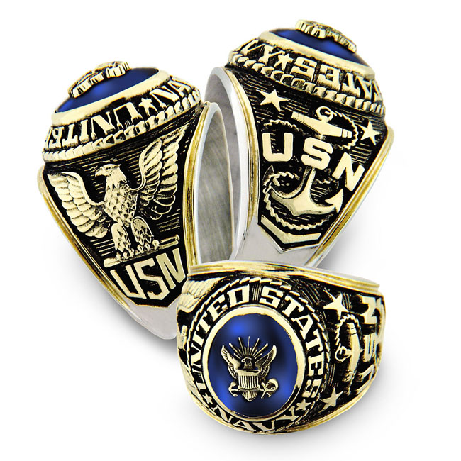 Us Armed Forces Military Service Rings Vetcom Personalized