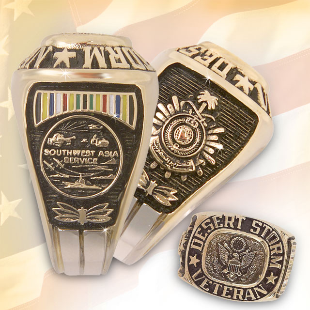 Exclusive U S Desert Storm Veteran Service Rings