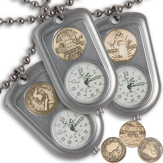 Service Medal Dog Tag Watches
