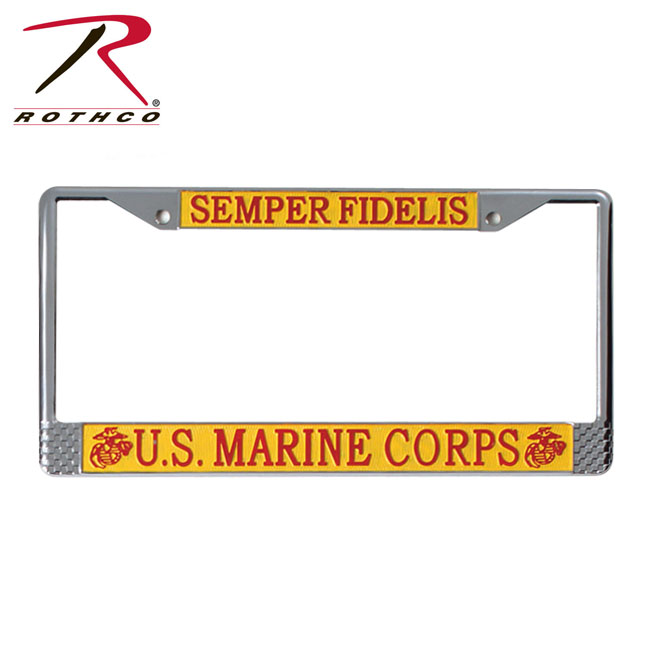 Us Marines License Plate Frame Vetcomcom Personalized Military