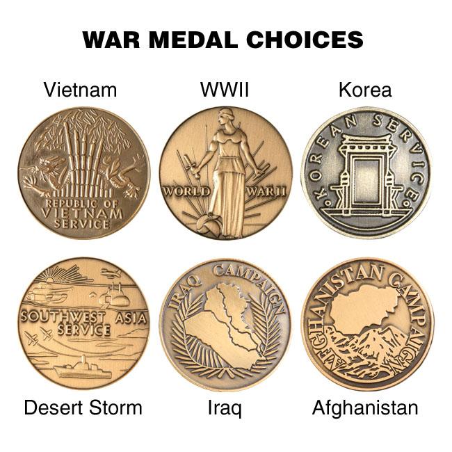 vietnam WWII korea desert storm iraq afghanistan war medals